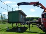 Výměna skladovacích prostor na fotbalovém hřišti