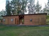 Nové skladovací prostory na fotbalovém hřišti