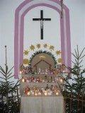 Nasvícený betlém v kapličce